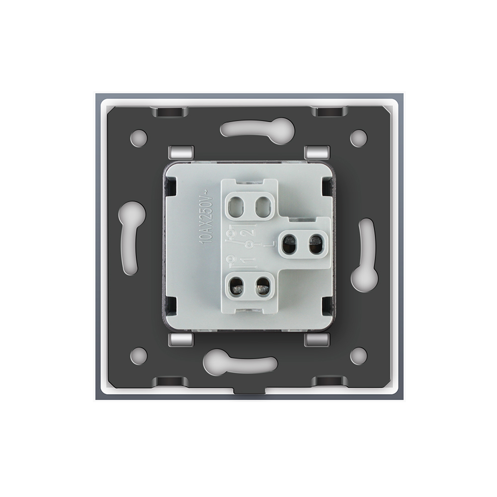 Image 5 - Livolo Manufacturer EU standard Luxury 4 colors crystal glass panel, 1 gang 1 way Push Reset switch, VL C7K1H 11/12/13/15-in Switches from Lights & Lighting