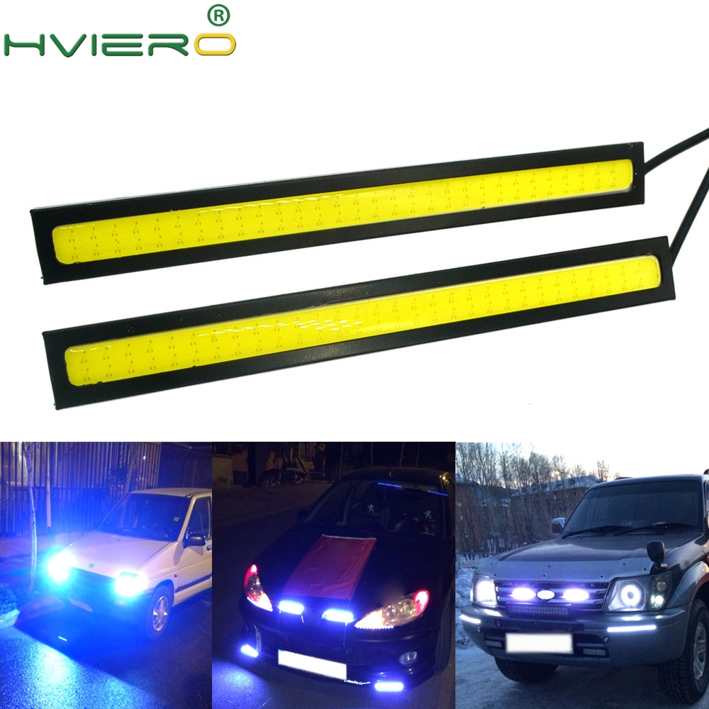 1pcs White Blue 14cm Double Row 60Leds COB Car Led Auto DRL Driving Daytime Running Lamp Fog Light DIY Ultra Bright Waterproof leadtops car styling 14cm waterproof ultra thin cob chip led daytime running light diy drl fog light lamp source car styling be