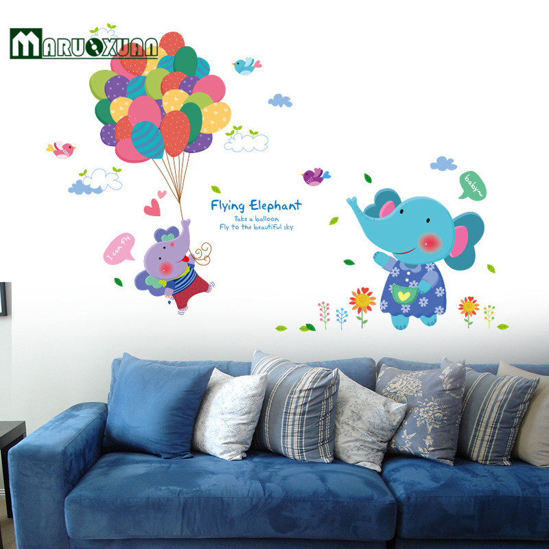 Cute Cartoon Of Children Room Decorate Wall Stickers Baby ...