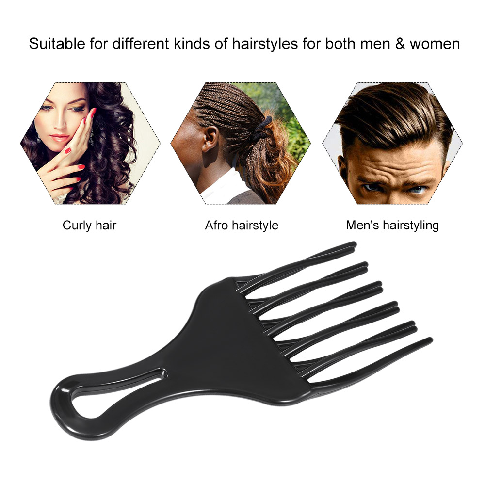 Marvelous 1Pc Insert Afro Hair Pick Comb Wide Comb Teeth Hair Fork Brush For Schematic Wiring Diagrams Amerangerunnerswayorg