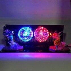 Dragon Ball Z hijo de Goku del Vegeta lampara led de luz de la noche de Super Saiyan de la bola del dragón del Anime Z juguete DBZ iluminación de Led para iluminación de Navidad