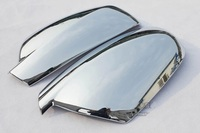 For 2004 2012 Peugeot 307 CC SW 407 Door Side Wing Mirror Chrome Cover Rear View Cap Accessories 2pcs per Set Car Stying