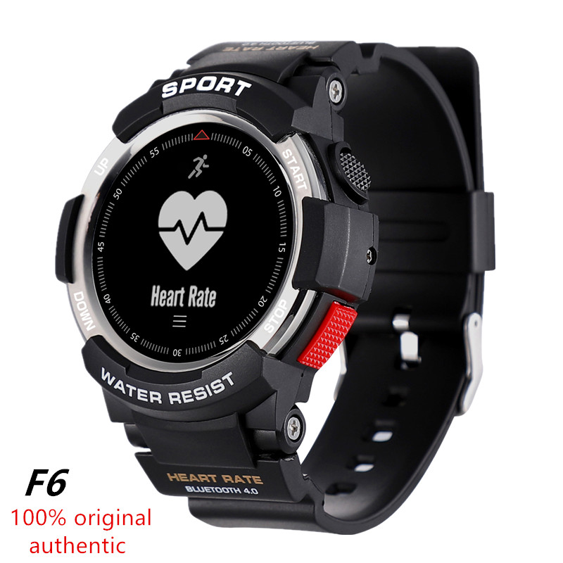 No.1 F6 smart watch IP68 waterproof dynamic heart rate monitoring Bluetooth <font><b>4.0</b></font> smart watch for Android Apple <font><b>smartphone</b></font> image