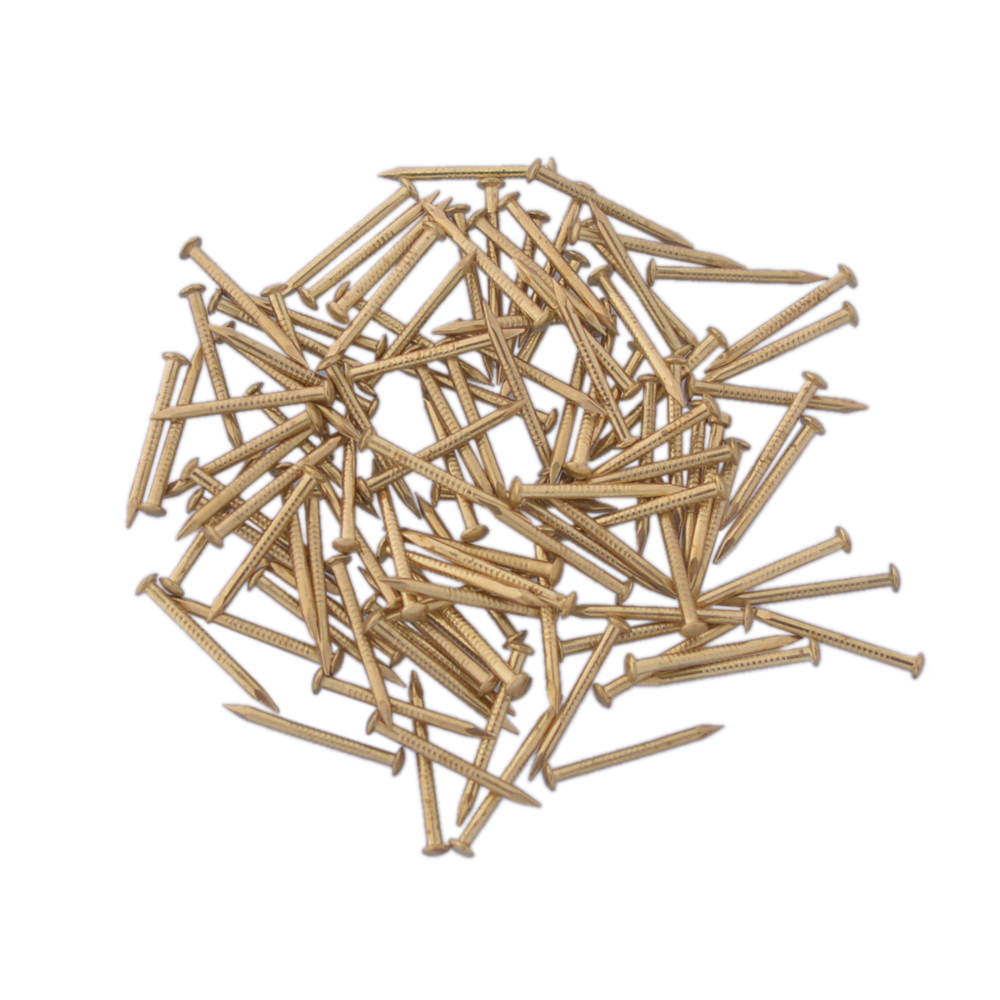100pcs 18X1.5MM Chinese Archaize Round Head Gold Antique Pure Copper Bronze Wooden Nails for Furniture DIY Decorative Boxes