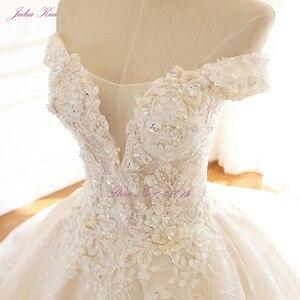 Image 4 - ジュリアクイハイエンドストラップレスインビジブルネックのウェディングドレス真珠ビーズボールガウンローブ · デ · マリアージュ