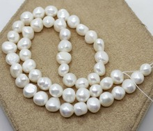 9mm-10mm Natural White Baroque Pearl Loose Beads 15 Long Strand 16 inches 30 40mm aaa natural lavender fireball baroque pearl loose strand