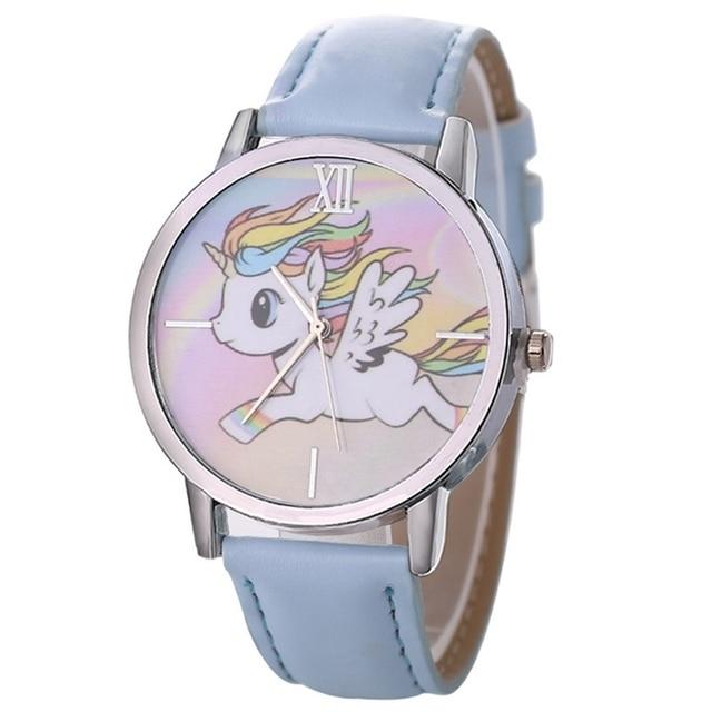 Unicorn Watch Children's Watch Carton Rainbow Animal Kids Girls Leather Band Ana