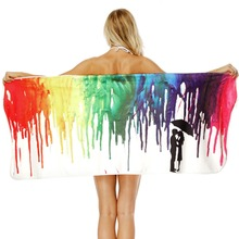 Color Graffiti Printing Bath Towel Bathroom Super Absorbent Quick-drying Wearable Beach Towel Outdoor Adult Women Home Towels big size printing bath towel bathroom super absorbent quick drying beach towel yoga spa outdoor adult women man movement towels
