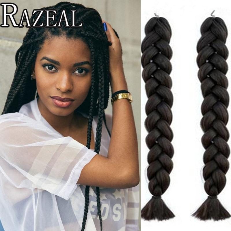 18inch marley braid hair black