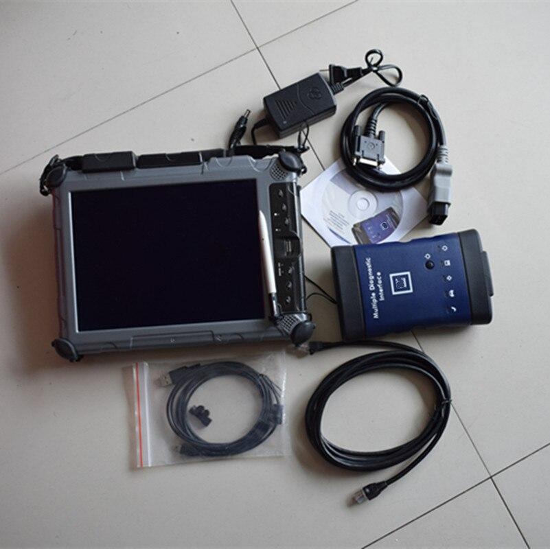 WI-FI инструмент диагностики для G/M MDI сканер для G-M MDI WI-FI с SSD программное обеспечение подходит для ix104 ноутбука i7 Процессор Функция хорошо DHL Бе...