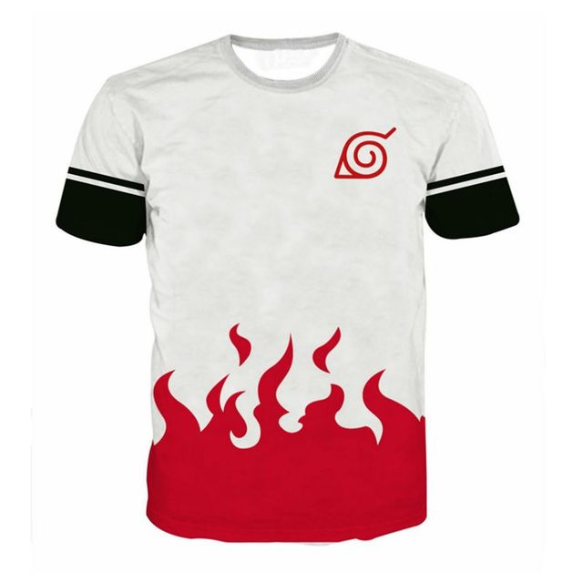 2018 Brand Clothing Men's T shirt Naruto Uzumaki
