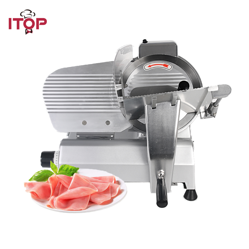 ITOP 110V 220V Commercial Frozen Meat Slicer Mincer Heavy Duty Semi-automatic Ham Cutter Suitable for Hot Pot Restaurant цена 2017