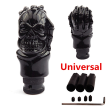 Universal ABS Skull Head Car Gear Shifter Knob Lever Fit For Manual Transmission