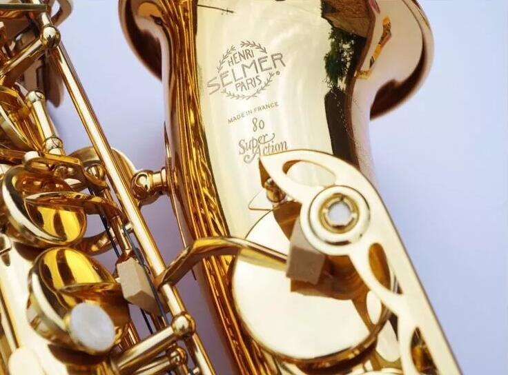 Selmer 802 SAS-802 Alto Saxophone E Plat Sax Laque D'or instruments de musique avec Gants Embouchure, Roseaux, Sangle, cas