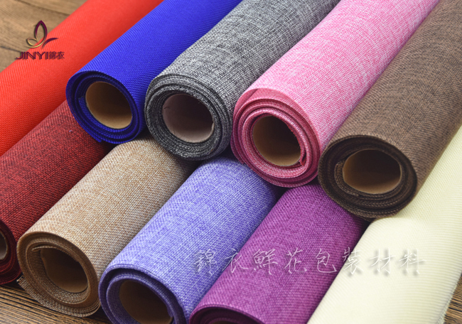 50CM*5yard Flower Packing Cotton Linen Fabric Fiber Textiles Wine Shirt Shoes Wrapping Paper Gift Packing Material