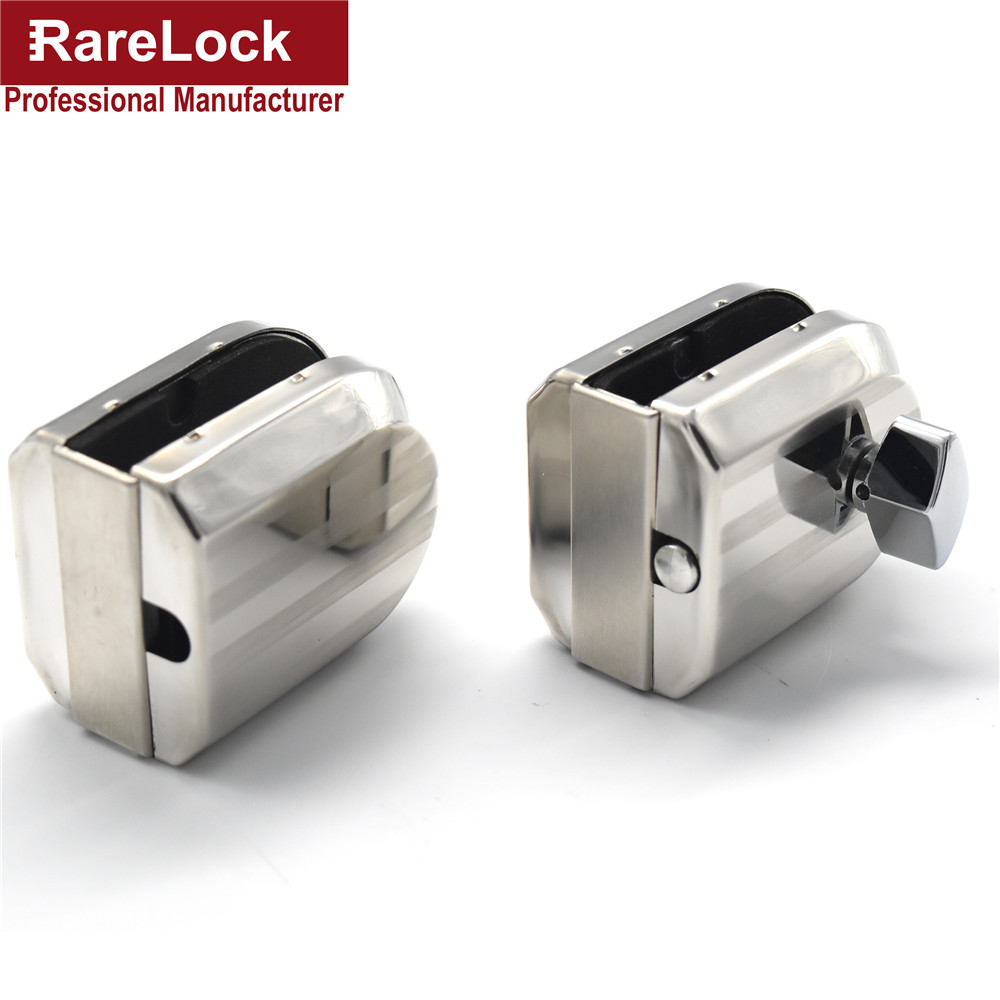 LHX Christmas Supplies Glass Door Lock Keyless Stainless Steel Glass Window Locks for Bathroom Women Bag Shop Door d
