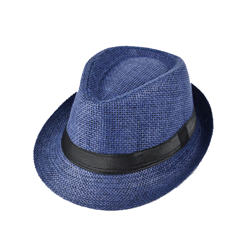 Men s Straw Jazz Cap Casual Panama Sun Hats Summer Hat For Women Straw Hat  Travel Bucket Hat Panama Adult size 5colors-in Sun Hats from Apparel  Accessories ... 78f1af4ce547