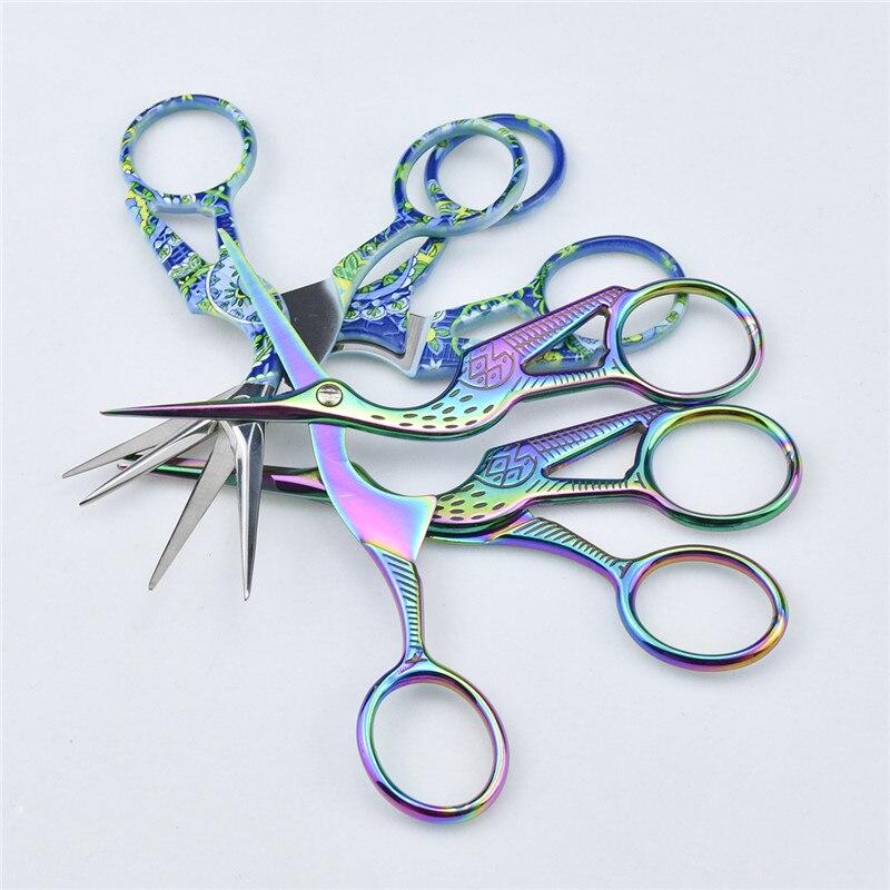 Looen Embroidery Scissor Crane Shaped Cross Stitch Tailor Scissor Retro European Sewing Handicraft DIY Home Tool Accessories (9)