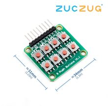 2x4 Keypad 4x2 Keypad 8 Push Buttons V1.00 Key Board Matrix Keyboard Button for Arduino AVR PIC 2*4 Module AVR PIC(China)