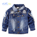 Jackets for Girls Denim Baby Boys Children Outerwear Coat Long Sleeves Korean Jacket Children Baby Coat Kids Clothing