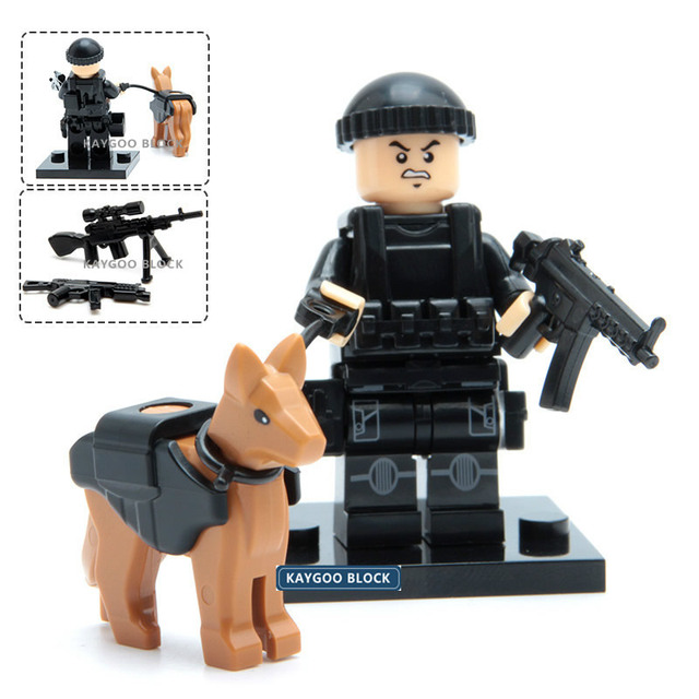Military Swat Police Gun Weapons Pack Army soldiers building blocks Brick Set Model MOC Arms City Police Military Series