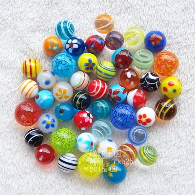Free shipping 46pcs lot 16mm 18mm Glass marbles jump chess pieces Vase aquarium decoration ball
