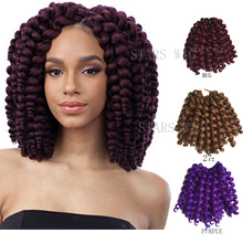 Freetress Ombre Wand Curl Janet Collection Synthetic Kanekalon Crochet Braids Noir 2X Bounce Twist Braid 10inch Hair Extensions