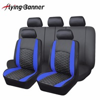 2017 New Luxury PU Leather Seat Cover Fashion Football Pattern Sports Series Car Seat Cover Universal