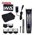 RIWA перезаряжаемый триммер для волос, титановое керамическое лезвие, бритва, машинка для стрижки бороды, триммер, бритва, электрическая маши...