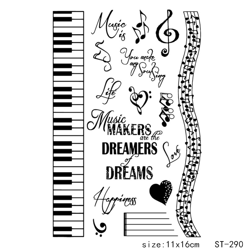 AZSG Musical keyboard Theme clear stamp scrapbook rubber stamp seal paper craft clear stamp card making in Stamps from Home Garden
