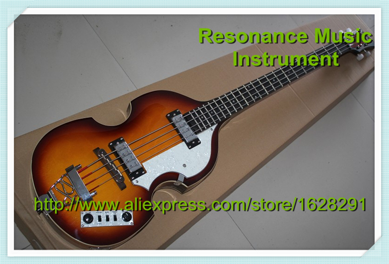 Real Pictures Chinese Hofner BB2 Bass Guitar 4 Strings Archtop Hollow Body Bass In Stock набор бокалов crystalex оливия б декора 6шт 200мл вино стекло