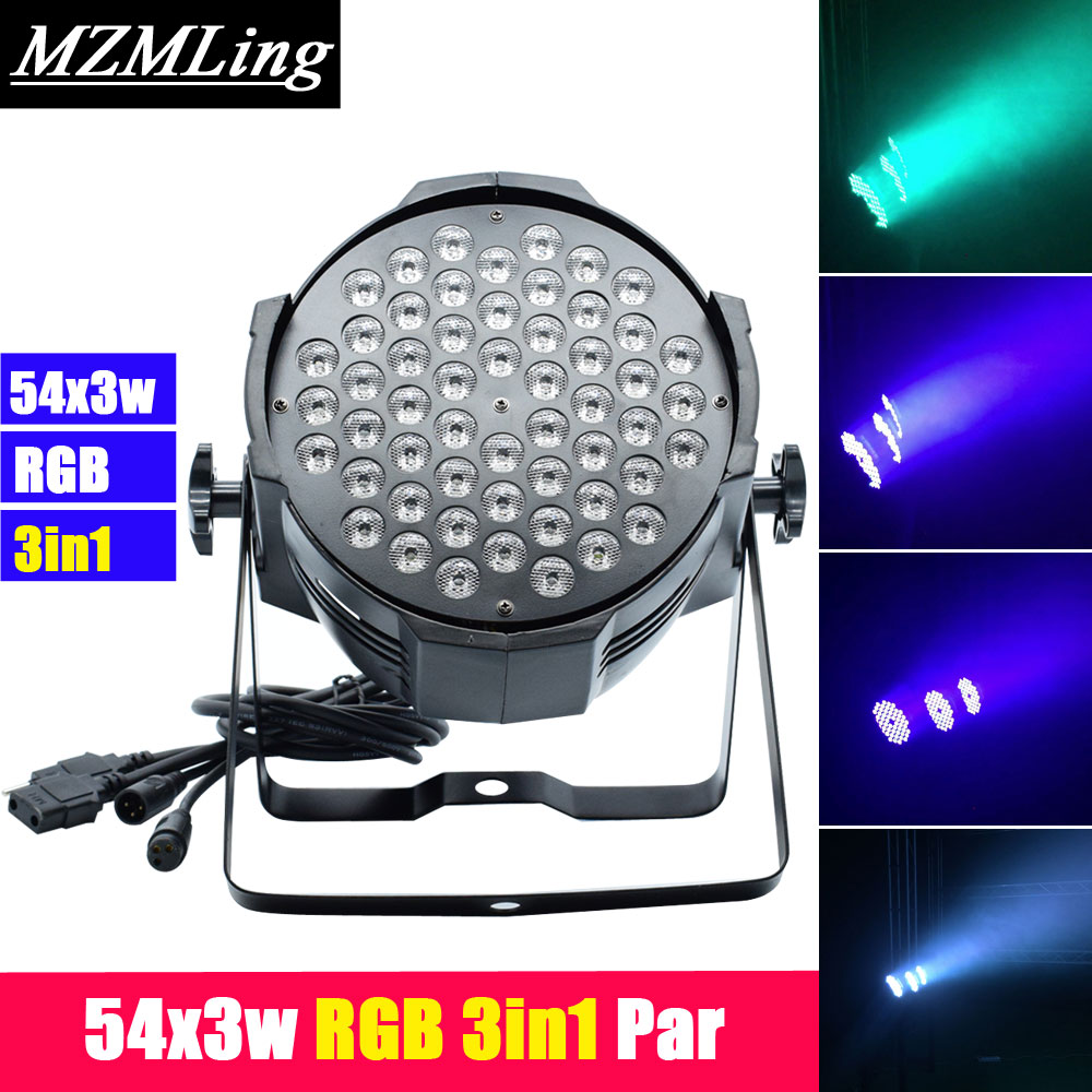 54x3w Led RGB 3in1 Par Light DMX512/Auto/Sound/Master Slave Control Par Light AC100-240V DJ/Fest /Bar /Stage /Party Light men women fashion fashion hannah martin men date stainless steel leather analog quartz sport wrist watch dropshipping hot sale2