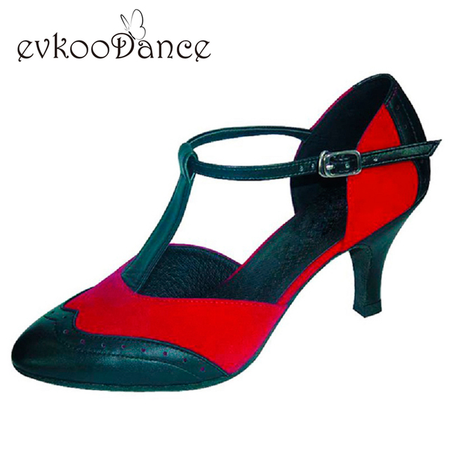 Professional Size US 4-12 Red With Black White With Black And Gold Glitter  Heel Height 6cm Ballroom Dance Shoes Women NB022 ddb028264242