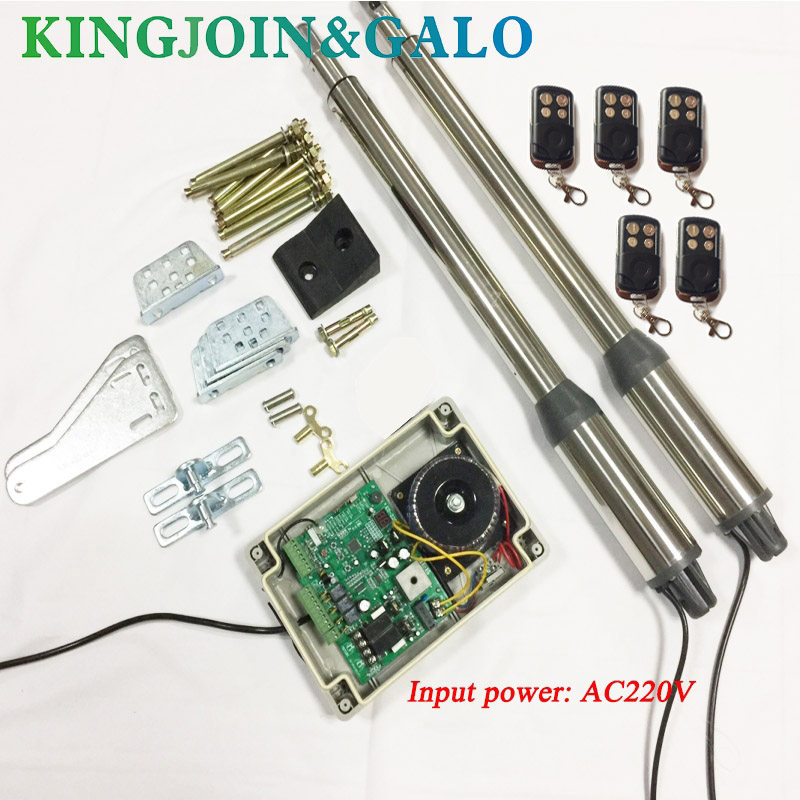 electric gates//Electric Swing Gate Opener 300 KG Swing Gate Motor With 5 Remote Control galo 300 kg double arms swing gate opener door motor kit with 1 pair of photocells 1 alarm light
