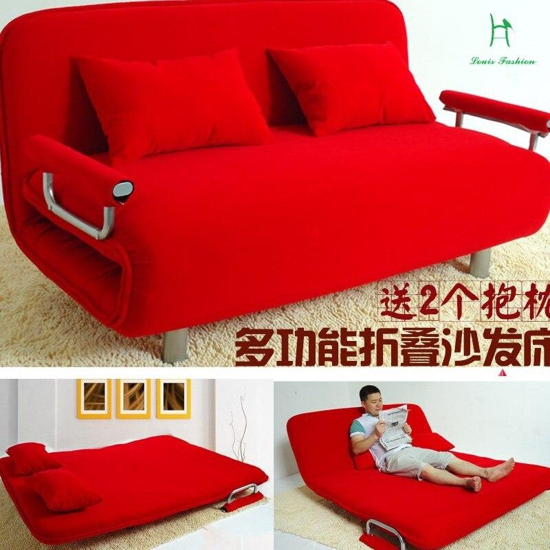 Louis oferta especial sofá cama plegable multifuncional doble tela 1,2 metros perezoso Tatami sofá cama
