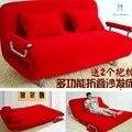 Oferta especial dupla multifuncional pano sofá cama dobrável é de 1.2 metros e 1.5 metros pode ser preguiçoso sofá tatami cama