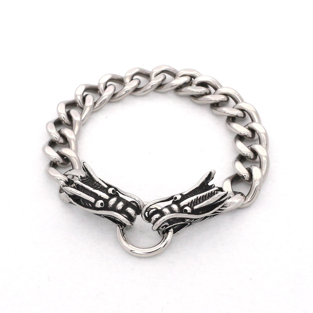 Jsbao Hot Selling Silver Color Double Oriental Dragon
