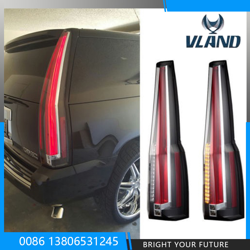 LED Tail Lights Rear For Chevy Chevrolet Suburban Tahoe GMC Yukon 2007 2008 2009 2010 2011 2012 2013 2014 Rear Lamp Brake Light car rear trunk security shield shade cargo cover for nissan qashqai 2008 2009 2010 2011 2012 2013 black beige