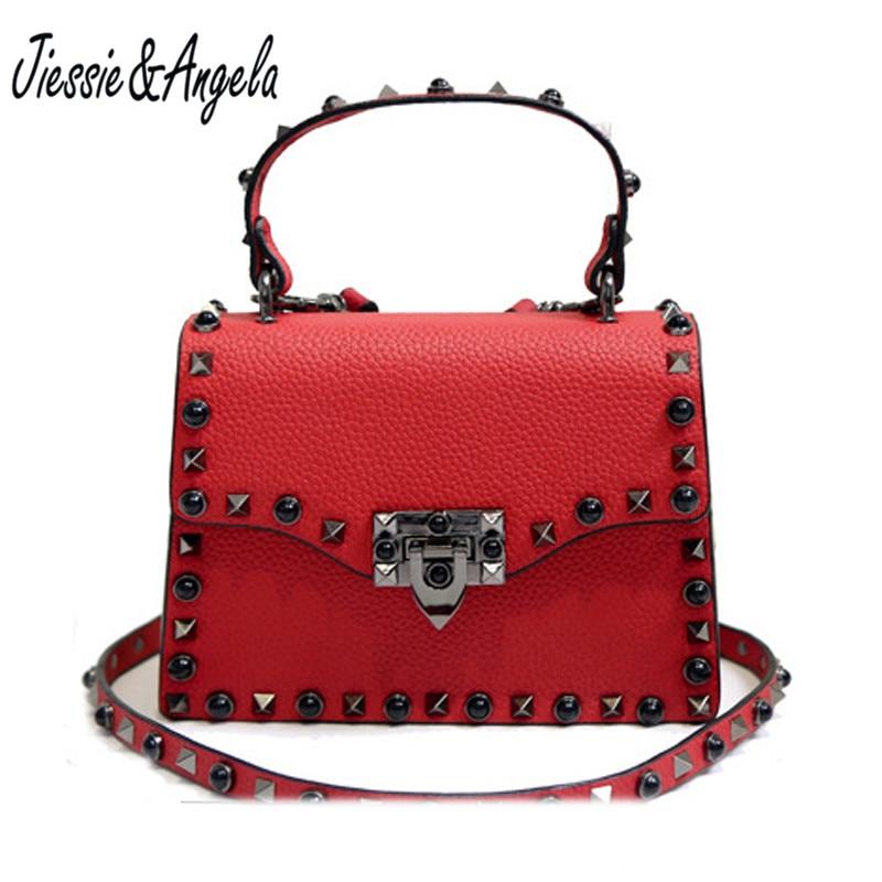 цены на Jiessie&Angela Fashion Brand Designer Women Leather Handbags Casual Tote Bags Female Shoulder Bags Messenger Bag в интернет-магазинах