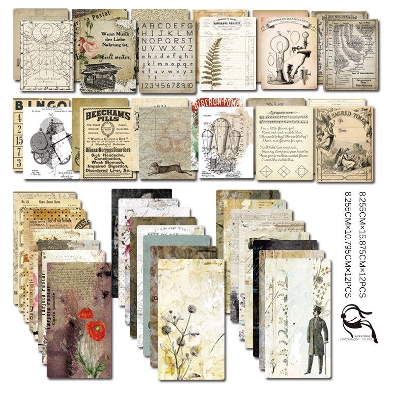 YPP ARTISANAT 24 pcs Double-côté Imprimé Coloré Papier Cartes pour Scrapbooking BRICOLAGE Projets/Photo Album/Carte faire de L'artisanat