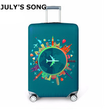 Thicker Travel Suitcase Protective Cover Luggage Case Travel Accessories Elastic Luggage Dust Cover Apply to 18-32 Suitcase cheap 74cm polyester Animal Prints JULY S SONG AMZJP009 50cm 28cm Luggage Cover 250g Flamingo Cartoon Architecture Airplane Sea Fish Ship Earth