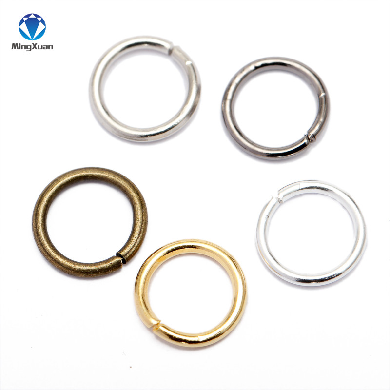 MINGXUAN Dia 200pcs/bag Wholesale Gunblack/Antique Bronze/Gold/Silver/Rhodium Color Jump Rings  Jewelry Making Findings 4-10mm