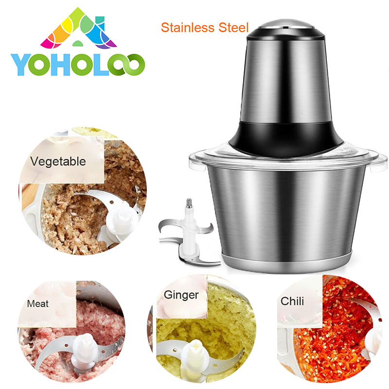 лучшая цена Electric Meat Grinder Stainless Steel Automatic Meat chopper Slicer&Meat Cutter Helpful Kitchen Mincer Electric Food Chopper
