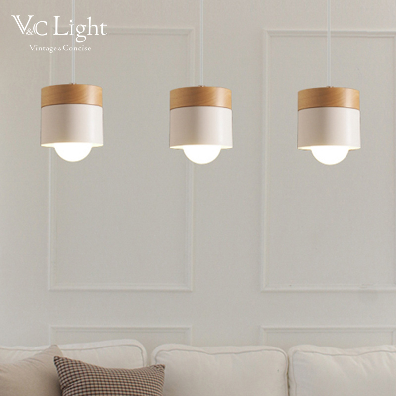 VC Off White Pendant Lights For Living Room Kitchen Bedroom Bar Hanging Lighting Nordic Lustre