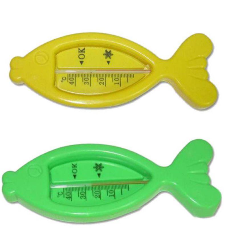 Flotador de plástico promoción chico peces flotando agua termómetros cute baby c