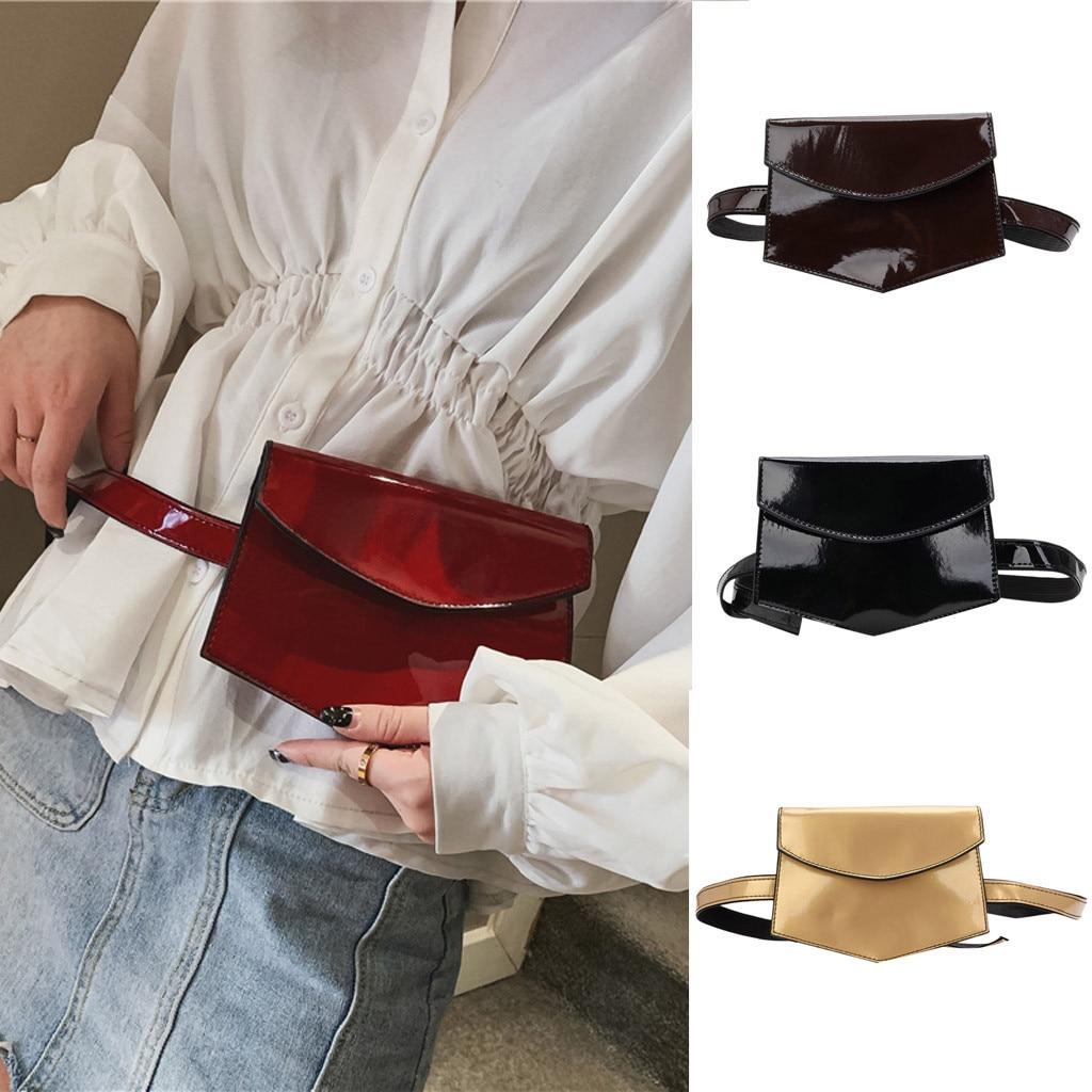 Sleeper #P52 NEW Women Outdoor Patent Leather Hasp Solid Color Messenger Bag Chest Bag Waist Bag поясная сумка Hot