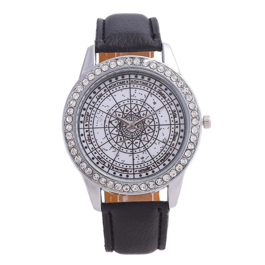 Dropship Montre Femme Luxury Fashion Women Crystal Simple Watch Ladies Leather Belt Watch For Gift Ladies Watch Rhinestone penda