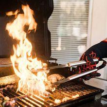 Экстремальные термостойкие противопожарные перчатки для барбекю, подкладка из хлопка для приготовления пищи, выпечки, гриля, прихватки, кухонные аксессуары для приготовления пищи