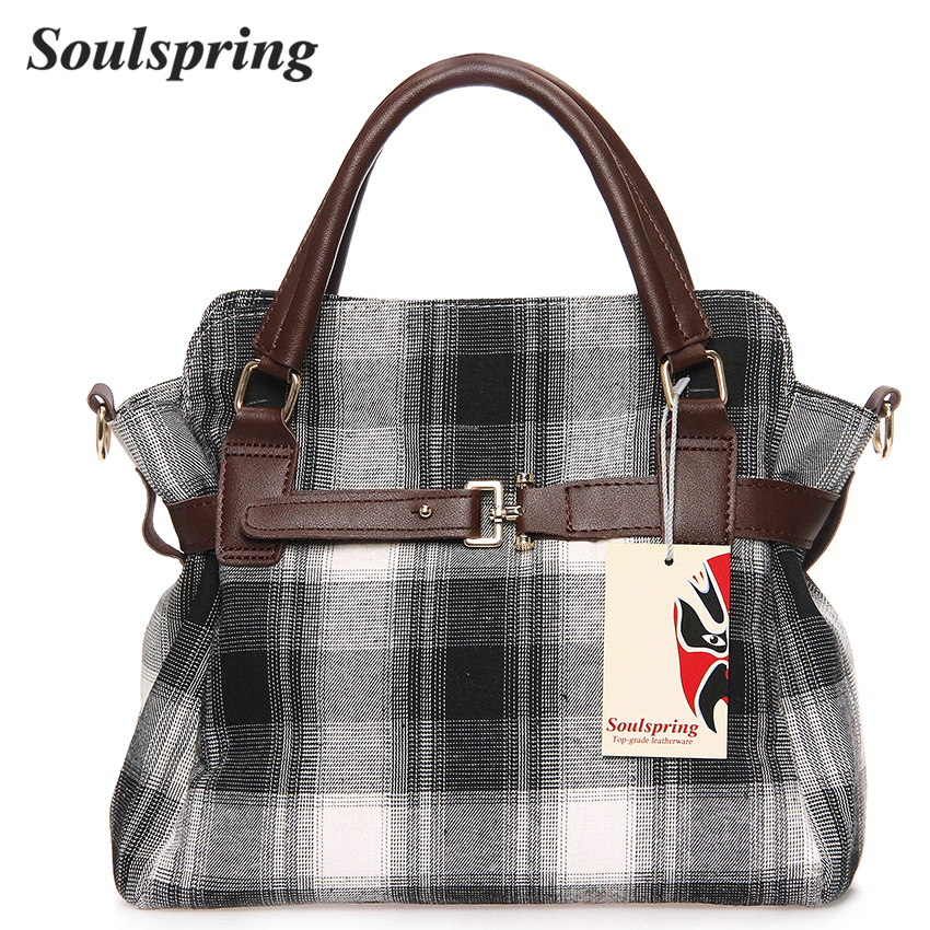 Fashion Woll Crossbody Bags For Women Plaid Elegant Tote Bag Designer Handbags High Qual ...