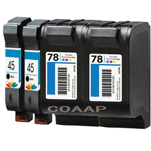 4pk Refilled HP45 HP78 ink cartridge 51645AE / C6578A for HP DeskJet 180 280 1220c 3810 3816 3820 3822 6122 6127 920c 930c 932c